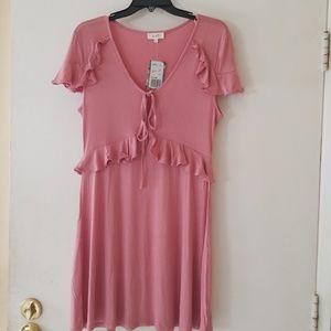 Ruffled cap sleeve dress